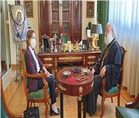 البابا ثيودروس يستقبل نائبة محافظ الإسكندرية