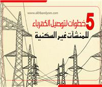 إنفوجراف | 5 خطوات لتوصيل الكهرباء للمنشآت غير السكنية