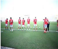 دوري أبطال أفريقيا  الأهلي يجري عمليات الأحماء قبل إنطلاق المباراة
