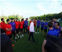 دوري أبطال أفريقيا  الخطيب يحفز اللاعبين قبل إنطلاق المباراة