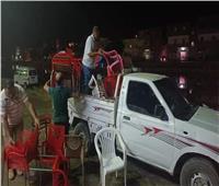 حملة ليلية مكبرة لإزالة الإشغالات في شوارع كفر الدوار