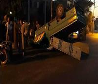 إصابة 6 أشخاص في حادث انقلاب سيارة بالمنيا