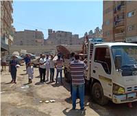 رفع إشغالات مقاهي العمرانية في حملة إشغالات بالجيزة