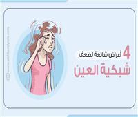 إنفوجراف  4 أعراض شائعة لضعف «شبكية العين»