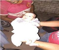 العثور على طفل حديث الولادة بالطريق الدائري في المحلة