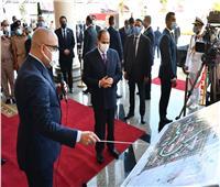 الرئيس السيسي يتابع الموقف التنفيذي والانشائي بمدينة الفنون في العلمين الجديدة