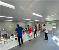 استخراج بطاقات اللاعبين لرباعي الأهلياستعدادا لمنافسات أولمبياد طوكيو