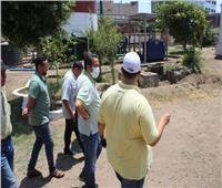 مياه الغربية تتفقد بعض محطات مدينة طنطا في أول أيام عيد الأضحي المبارك