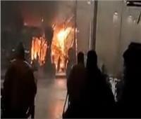 حريق هائل يلتهم منزل وورشة نجارة في طوخ