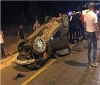 إصابة ضابط شرطة في حادث انقلاب سيارة ببني سويف