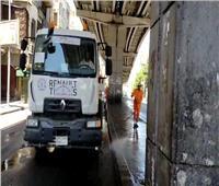 فيديو| تطهير وغسل شوارع القاهرة بعد ذبح الأضاحي