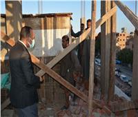 إزالة 52 حالة بناء مخالف بمركز سمالوط في المنيا