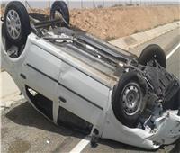 إصابة ٩ أشخاص فى حادثتين بالطريق الساحلي بمطروح