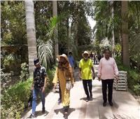 «الزراعة»: الحديقة النباتية في أسوان تستقبل وزيرة الخارجية السودانية