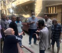 نشوب حريق في عقار سكني بمنطقةبين السرايات | فيديو