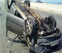 إصابة 6 أشخاص فى إنقلاب سيارة ملاكى بالطريق الزراعى بأسوان