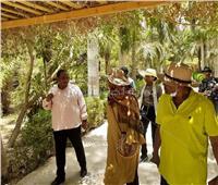 وزيرة الخارجية السودانية تزور الحديقة النباتية بأسوان | صور