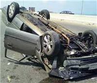 إصابة 5 أشخاص في حادث انقلاب سيارة ملاكي بصحراوي البحيرة