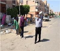 جهاز مدينة السادات يشن حملة لإزالة الإشغالات بسوق المنطقة السكنية الرابعة