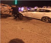 بالأسماء ..إصابة 7 أشخاص فى تصام سيارتين ملاكي بإدفو