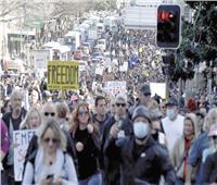 مظاهرات وصدامات مع الشرطة فى أستراليا رفضًا للإغلاق
