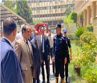 صور | السيطرة على حريق محدود في مدخل وزارة التنمية المحلية