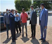 محافظ المنيا يتابع أعمال رفع تراكمات القمامة أمام المدرسة الثانوية الزراعية