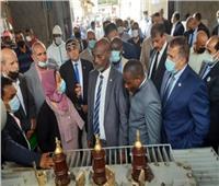 وزير الكهرباء البورندى يزور ورش السبتية التابعة لشركة جنوب القاهرة
