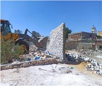 حملات لإزالة أعمال البناء المخالف بأحياء الإسكندرية