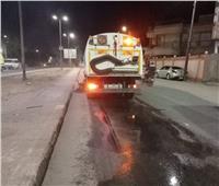 حملة نظافة مكبرة بشوارع حي شرق الأقصر