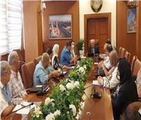 محافظ بورسعيد يستقبل مسؤولى شركة المقاولون العرب