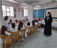 الأنبا باسيليوس يترأس قداس المناولة الاحتفالية بكنيسة العذراء ومار يوحنا بمنسافيس