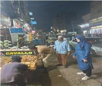 حملات ليلية لإزالة الإشغالات والنظافةبالباجور | صور
