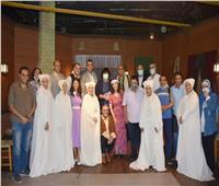وزيرة الثقافة تشهد «سيدة الفجر» بمسرح الطليعة