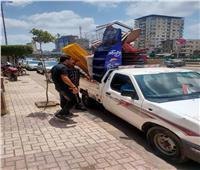رفع ٥٦٨ حالة إشغال طريق مخالفة بنطاق ٣ مراكز بالبحيرة
