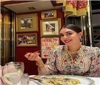 «عشاء خفيف وفستان مشجر مميز».. ياسمين صبري في آخر إطلالة لها عبر«إنستجرام»