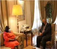 بالصور | ننشر تفاصيل لقاء سامح شكري مع وزيرة خارجية جنوب السودان