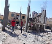 إزالة بناء مخالف بشارع «نادى البلاستيك» بالقليوبية