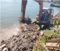 إزالة ٣ حالات تعدي على نهر النيل بمركزي فارسكور والزرقا