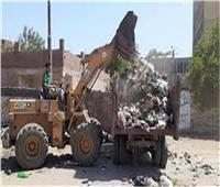 رفع ١٠٦ أطنان قمامة ومخلفات من مركز بسيون