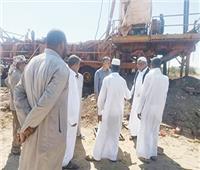 بعد أعمال حفر لمدة عام.. بدء ضخ المياه من بئر «وفلة» بمطروح