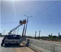 صيانة وتركيب 89 كشافا بمركز المحلة وحي ثان طنطا