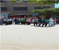 زغاريد الطالبات بعد انتهاء امتحانات شعبة الأدبي في بني سويف