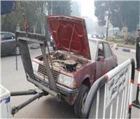 «الأوناش» ترفع 51 سيارة ودراجة نارية متهالكة من الشوارع والميادين