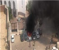 السيطرة على حريق نشب في 3 سيارات بالسويس