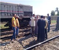 اللقطات الأولى من تصادم قطار نجع حمادي   صور وفيديو