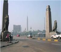 سقوط عمود إنارة بكوبري قصر النيل بسبب حادث