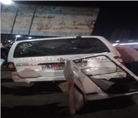 إصابة 12 شخصًا في إنقلاب سيارة ميكروباص بالطريق الزراعي بإيتاي البارود| صور