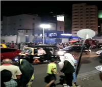 السيطرة على حريق «توك توك» أمام محطة وقود في ميدان الشون بالمحلة