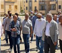 مسئولو الإسكان يتفقدون وحدات «سكن لكل المصريين» بمدينة السادات
